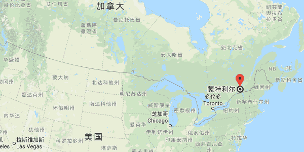 蒙特利尔位置